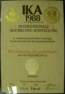 IKA 1998  16-20.10.1998 Frankurt am Main INTERNATIONALE KOCHKUNST-AUSSTELLUNG