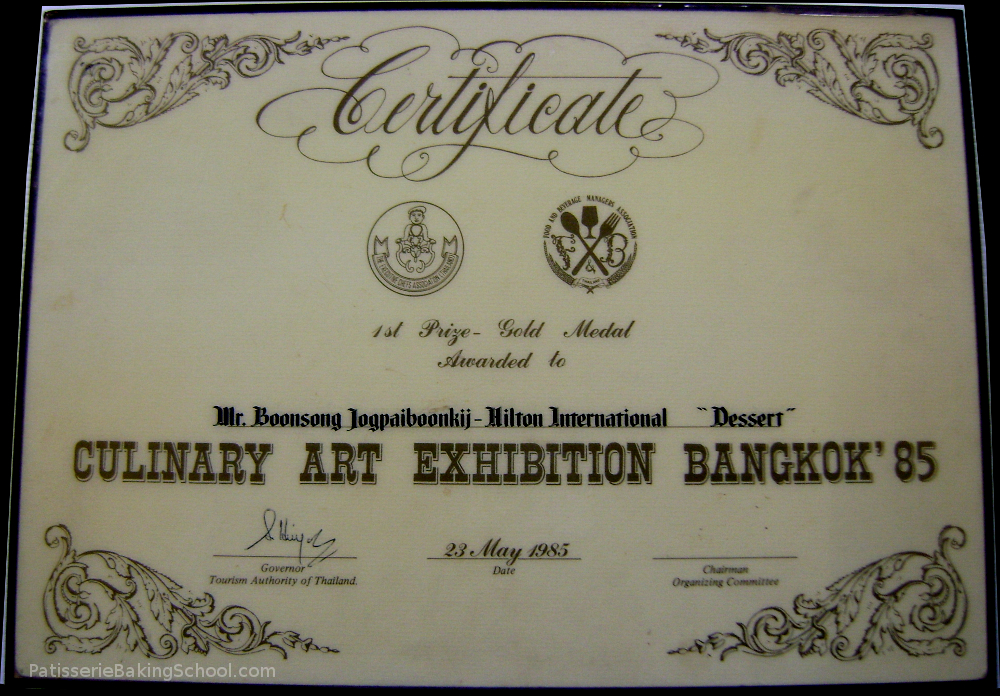 YOUNGPAIBOONKIT 1ST PRIZE - GOLD MEDAL AWARED TO CERTIFCATE